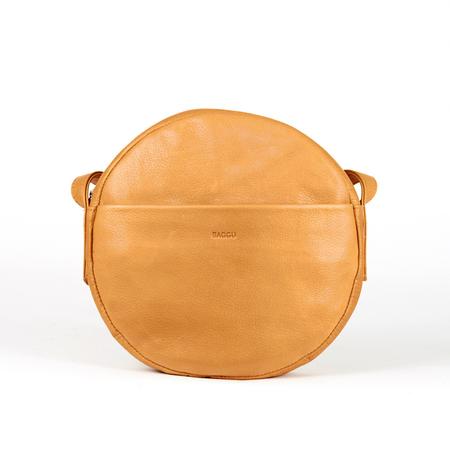 Baggu circle purse saddle 0001