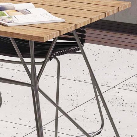 Sketch garden table bamboo hpl epoxy steel houe