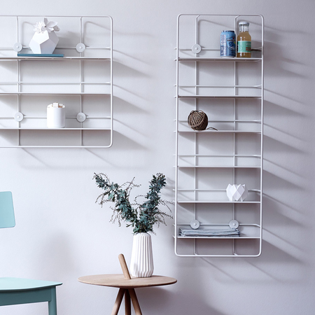 Woud coupe vertical shelf weiss ambiente