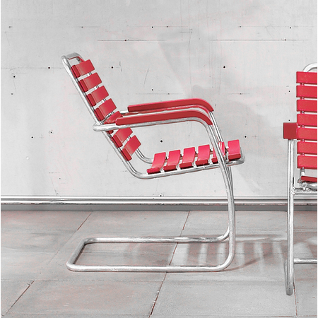 Atelieralinea lounger rot2