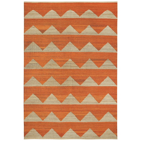 Hemp rug arctic rusty