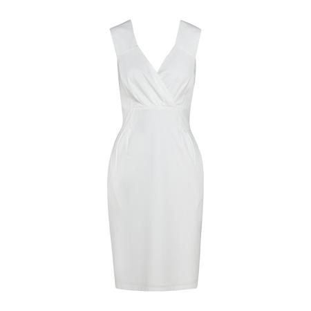 Frauenbekleidung kleider viskose weiss leila daisywhite 3 1