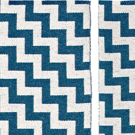 Plastic rug gunnel deep blue zoom