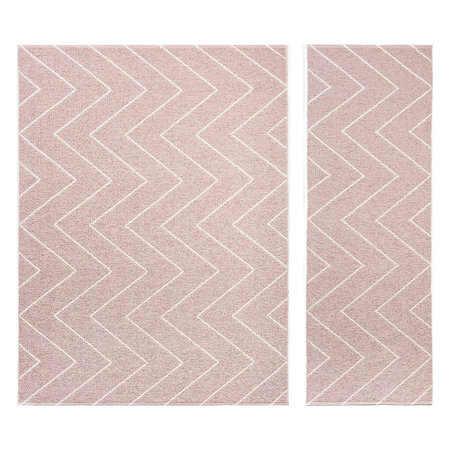 Plastic rug rita dusty rose
