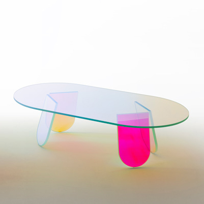 Patricia urquiola shimmer tables glas italia dezeen ss