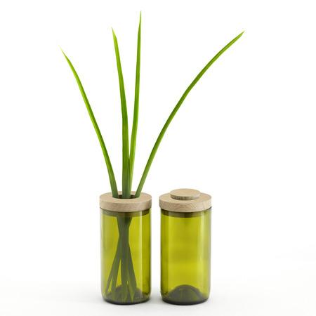 Sidebyside vase   dose gr%c3%bcn 1