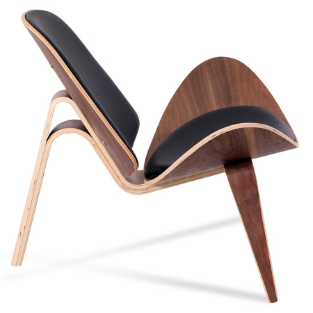 Ch07 shell chair hans wegner leather platinum replica 7