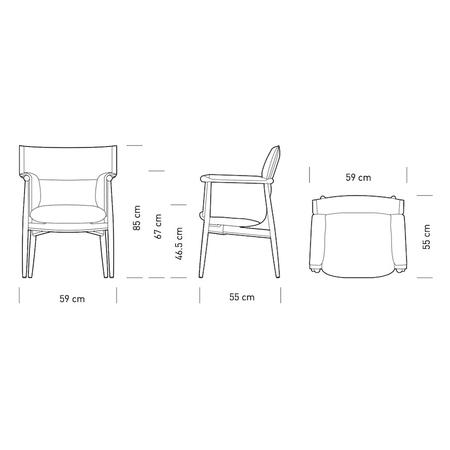 Embrace chair carl hansen size