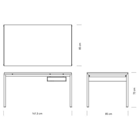 Pk52a student desk carl hansen size