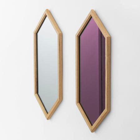 Normann copenhagen lust mirror 70 x 29 cm lila und silber