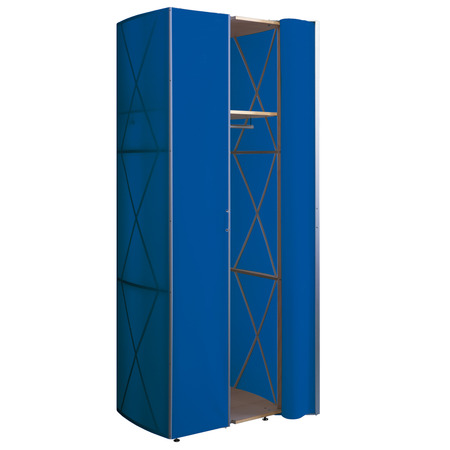 385 folienschrank blau
