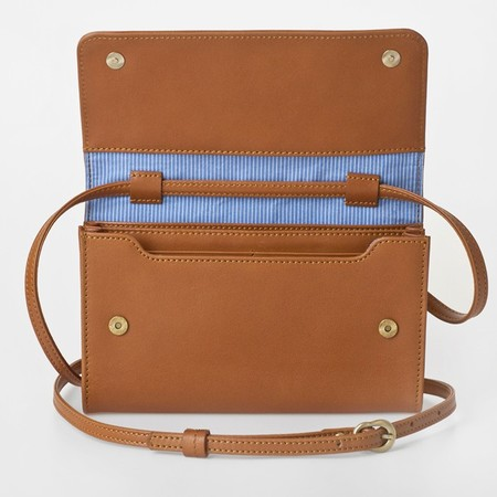 5 smartphone bag caramel front open 2
