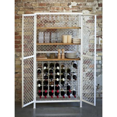 Weinschrank 2 mesh white 0487 h