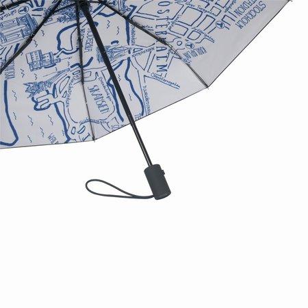 Regenschirm Citymap Stockholm Happy Sweeds