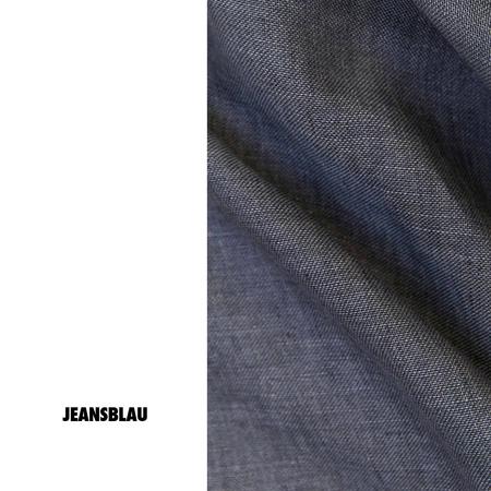 Leinenvorhang Jeansblau Zigzagzurich