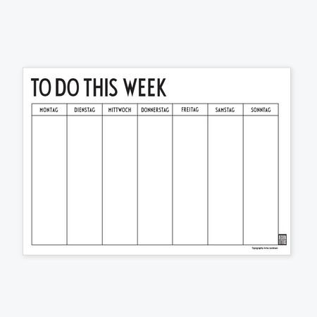 Weekly Planner Wochenplaner