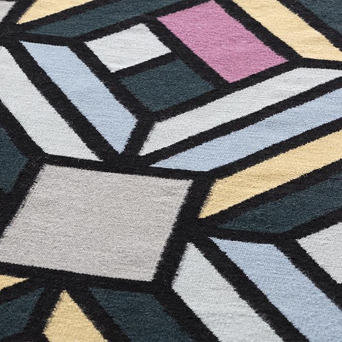Teppich Parquet Tetragon Gan Rugs