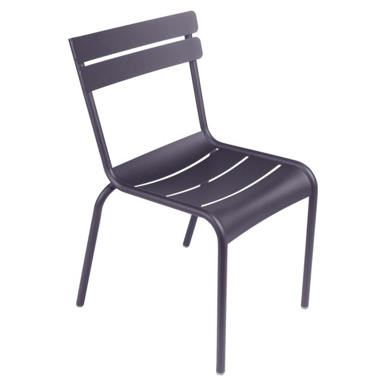 Fermob Luxembourg Stuhl Pflaume 44 Stuhl ohne Armlehnen
