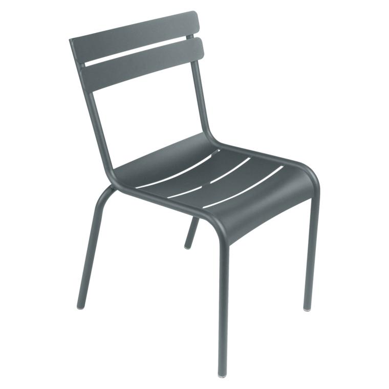 Fermob Luxembourg Stuhl Gewittergrau 26 Stuhl ohne Armlehnen