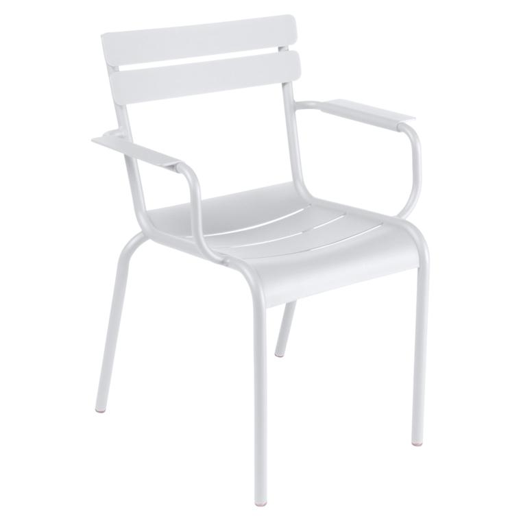 Fermob Luxembourg Stuhl Weiss 01 Stuhl mit Armlehnen