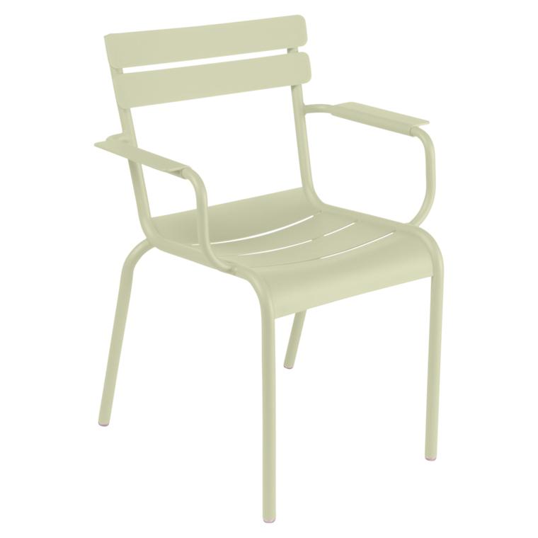 Fermob Luxembourg Stuhl Lindgrün 65 Stuhl mit Armlehnen