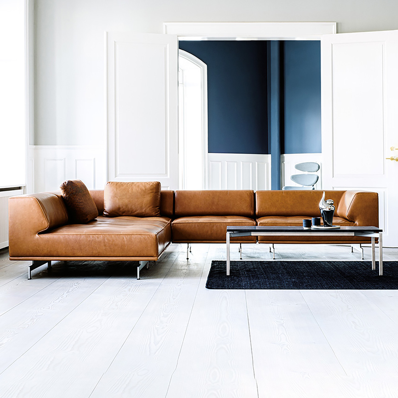 Sofa 'Delphi' in Leder