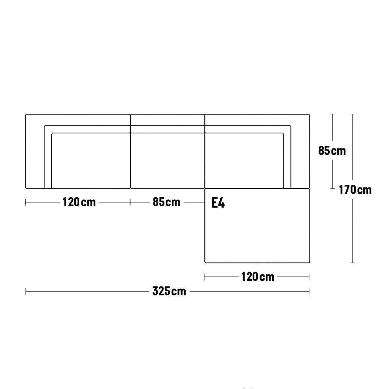 Sofa Delphi Skizze 325cm