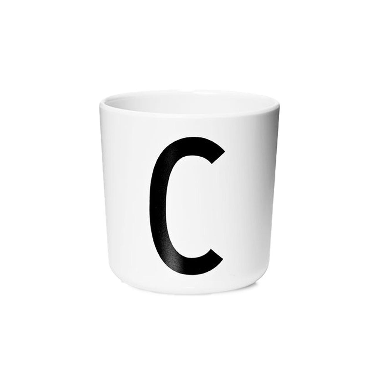 Design Letters Persönlicher Porzellan-Becher von A-Z 'Design Letters'  C