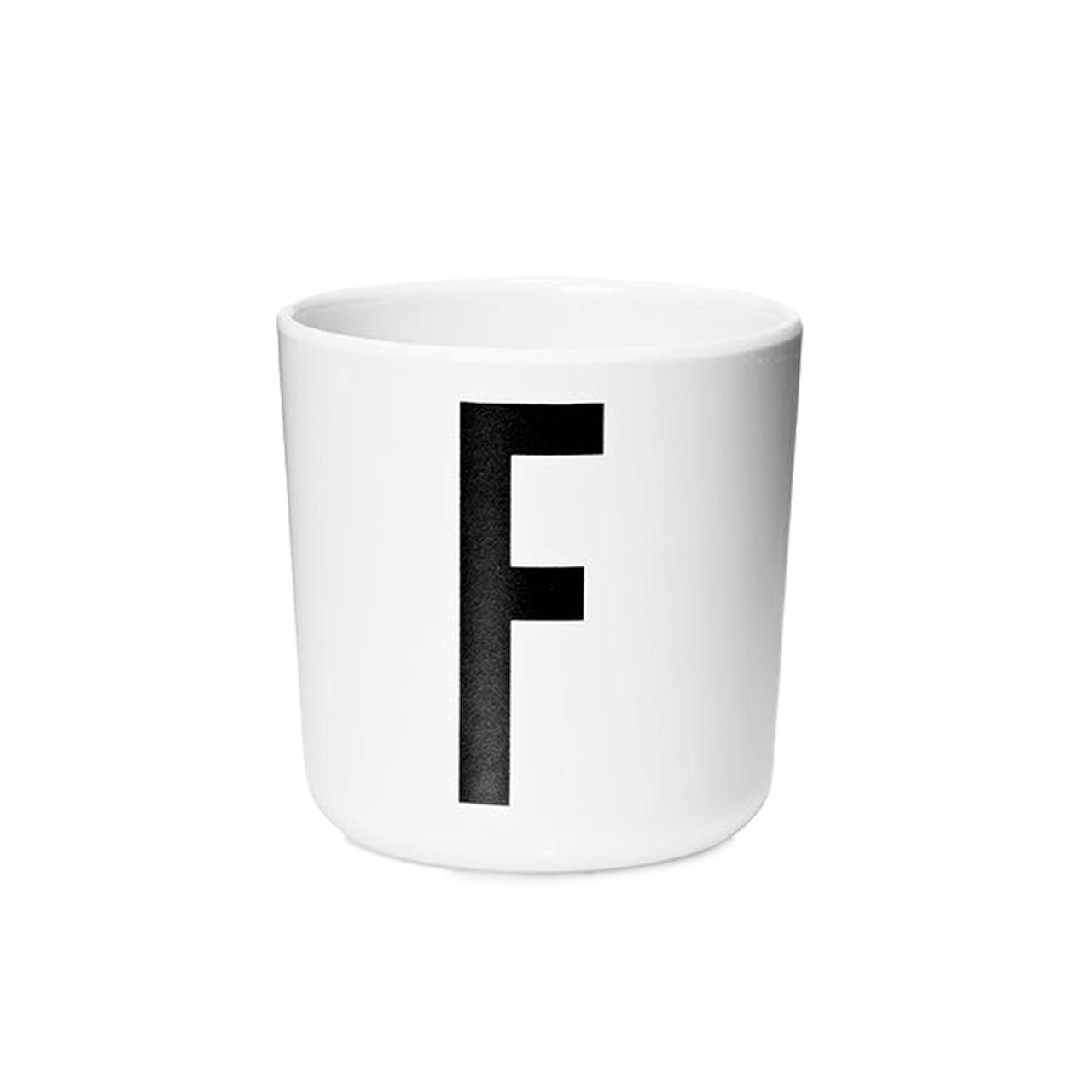 Design Letters Persönlicher Porzellan-Becher von A-Z 'Design Letters'  F