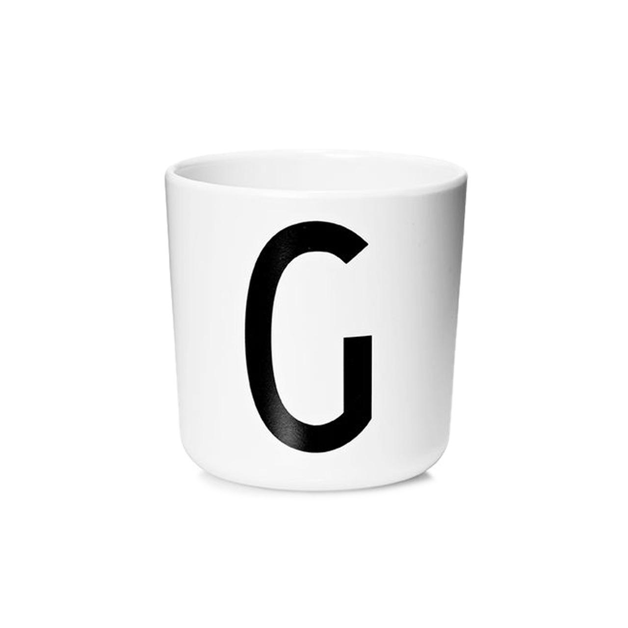 Design Letters Persönlicher Porzellan-Becher von A-Z 'Design Letters'  G
