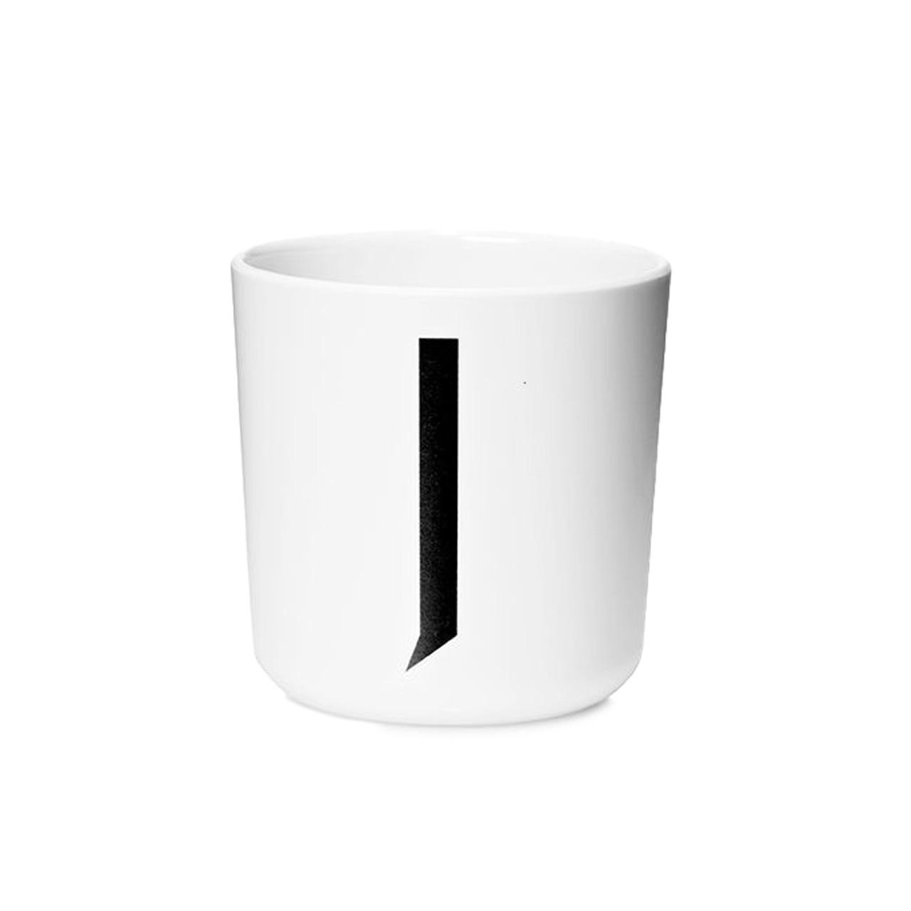 Design Letters Persönlicher Porzellan-Becher von A-Z 'Design Letters'  J