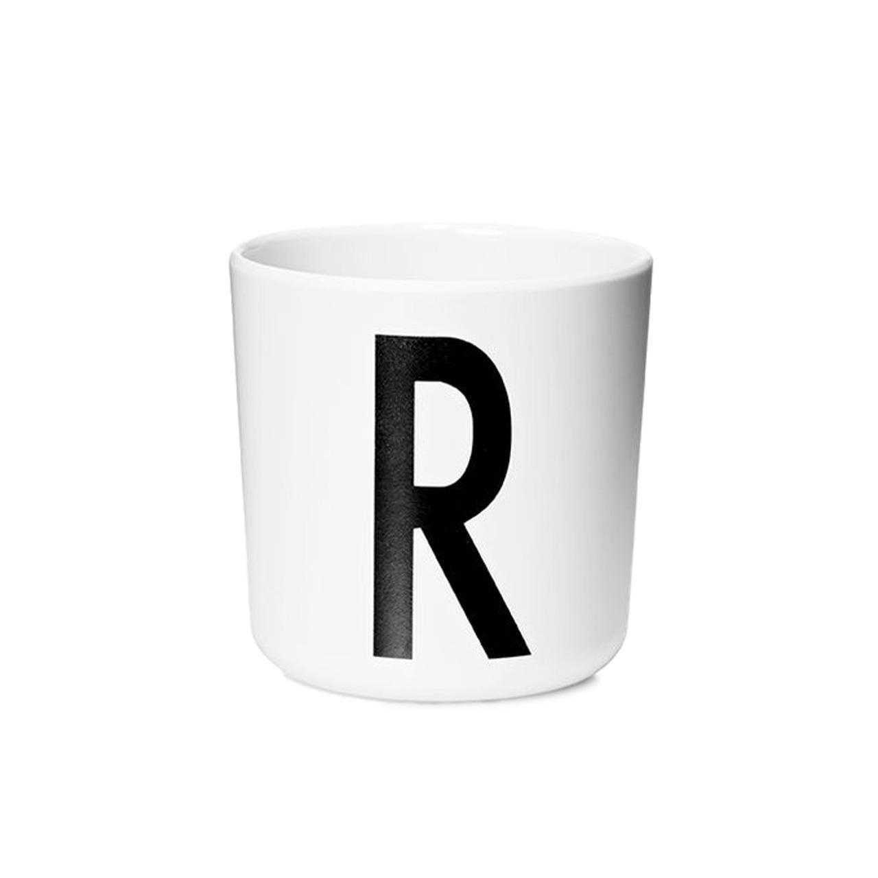 Design Letters Persönlicher Porzellan-Becher von A-Z 'Design Letters'  R