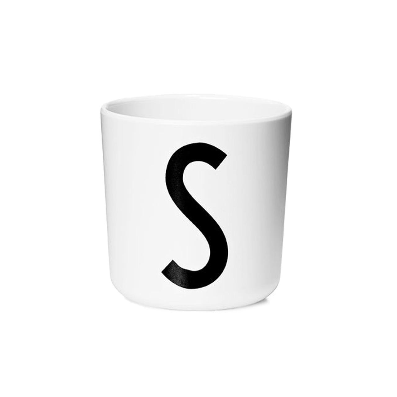 Design Letters Persönlicher Porzellan-Becher von A-Z 'Design Letters'  S