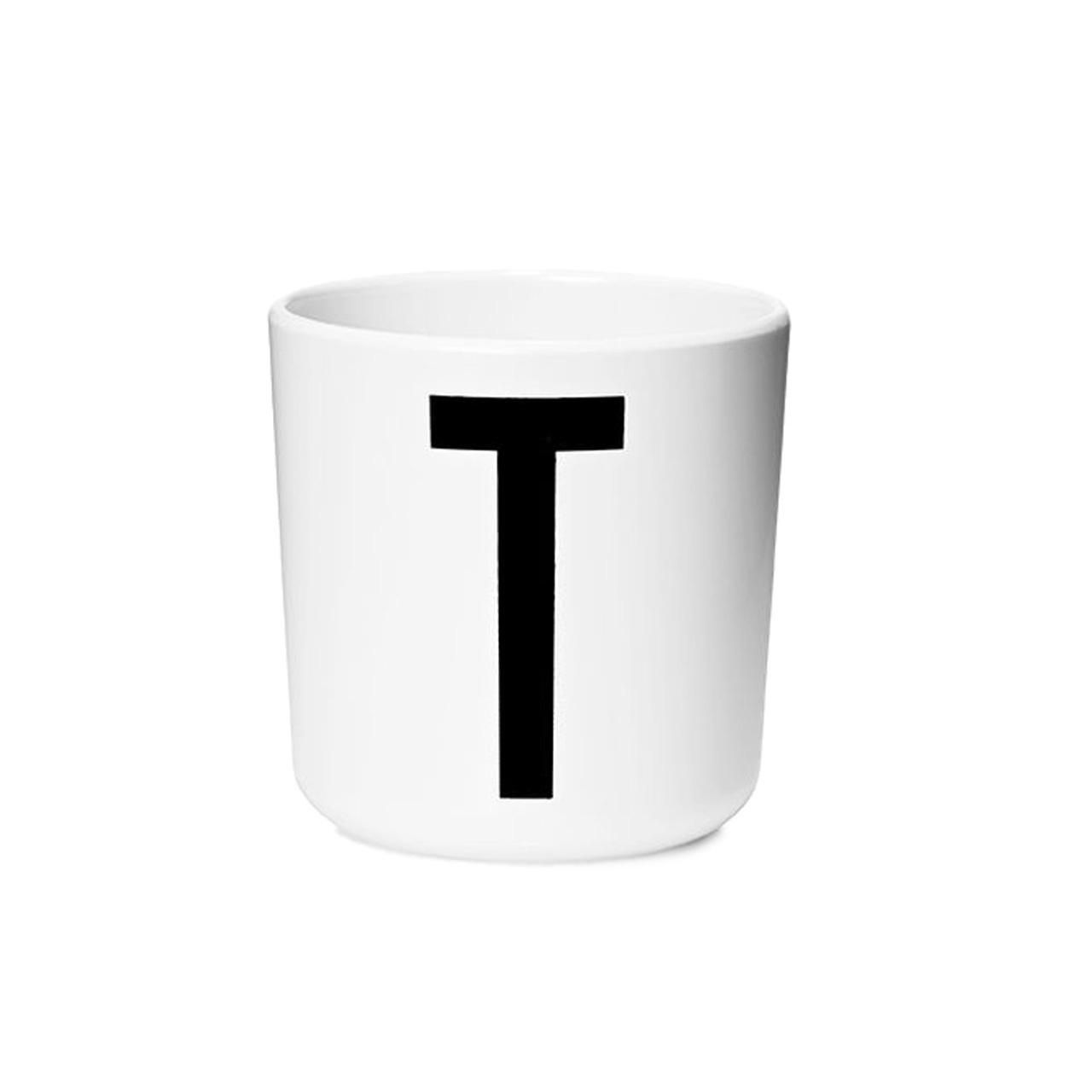 Design Letters Persönlicher Porzellan-Becher von A-Z 'Design Letters'  T