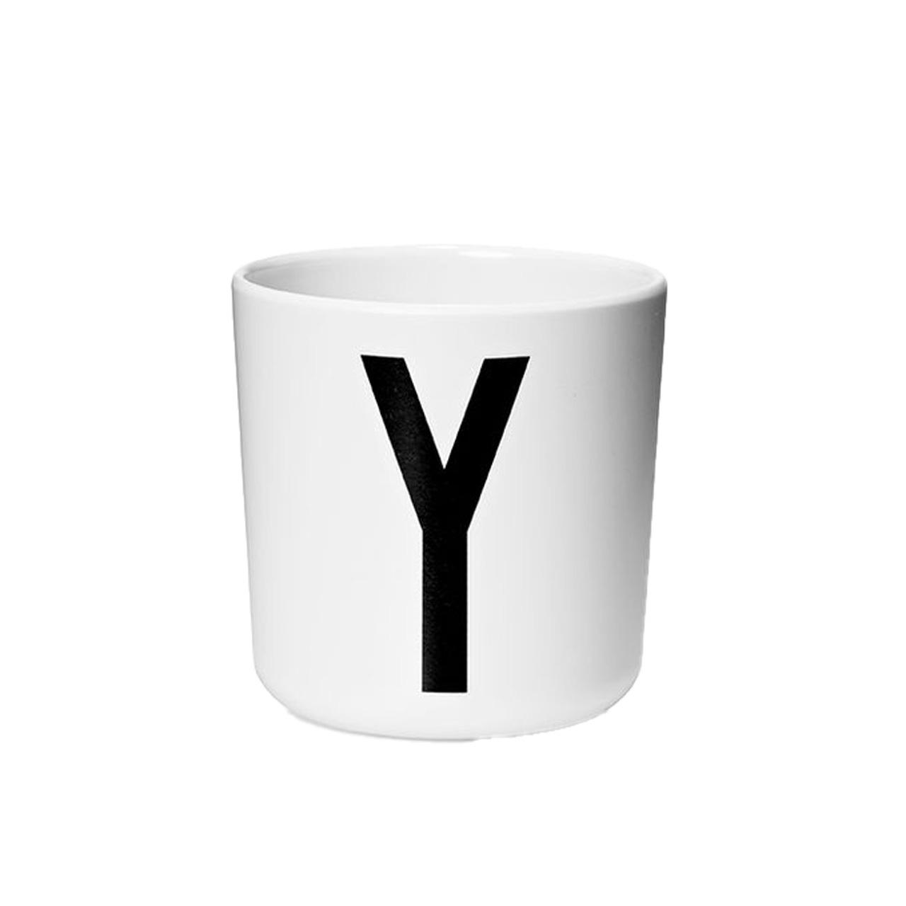 Design Letters Persönlicher Porzellan-Becher von A-Z 'Design Letters'  Y