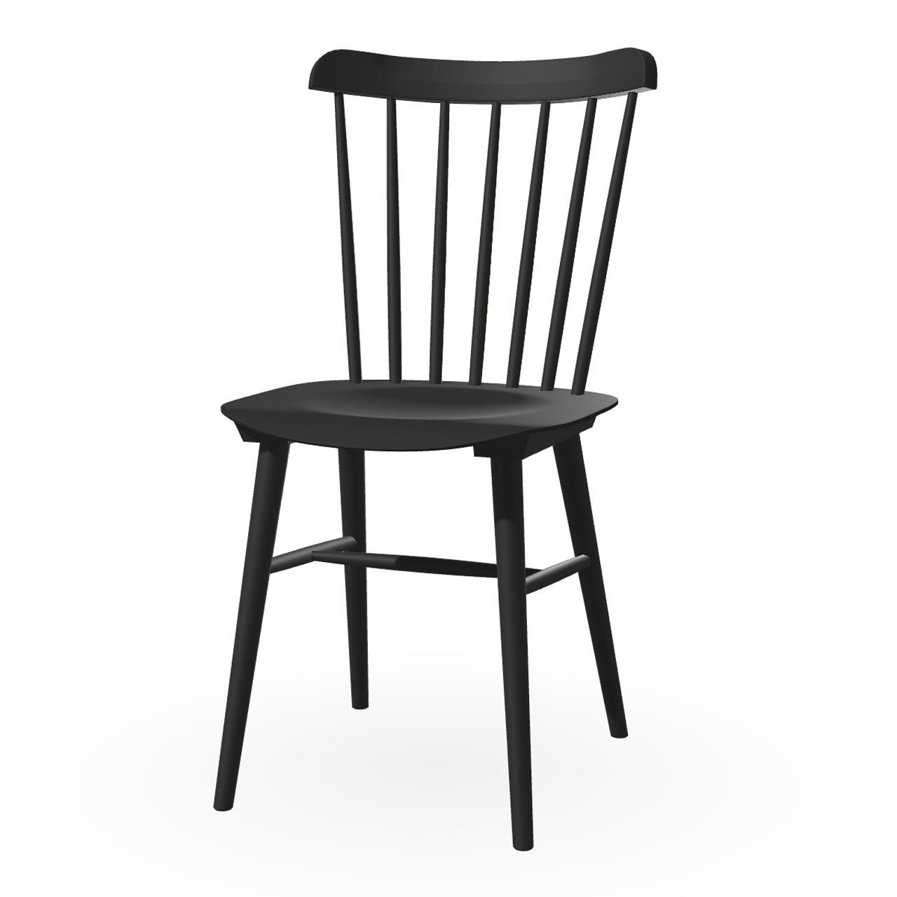 Ton Stuhl im Retro-Stil für den Esstisch  Eiche Black Grain (B123),  Helle Kunststoffgleiter
