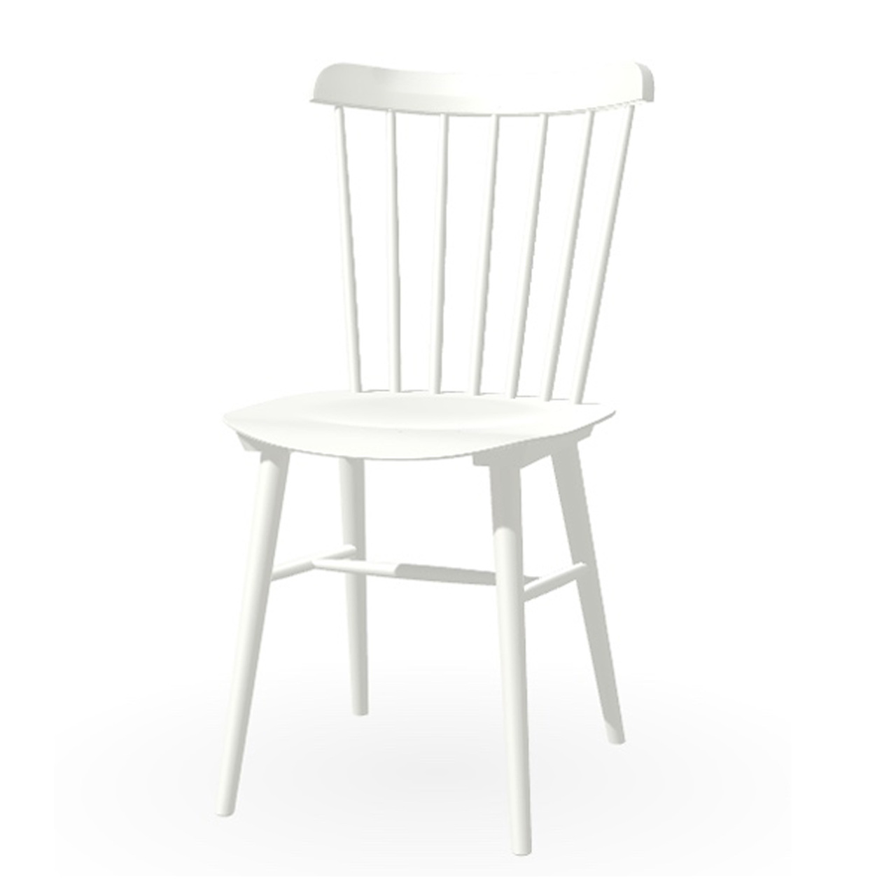 Ton Stuhl im Retro-Stil für den Esstisch  Eiche Pigmentiert Weiss (B 20),  Helle Kunststoffgleiter