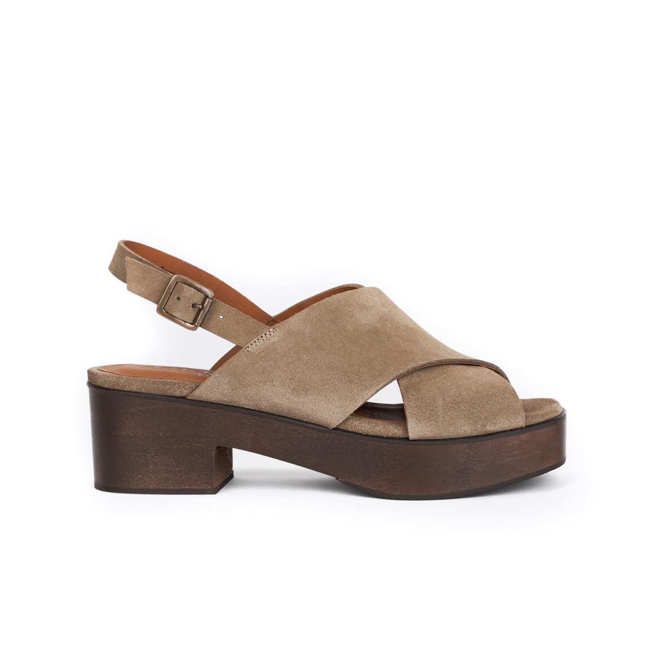 Tolle Plateau-Sandalen in Taupe