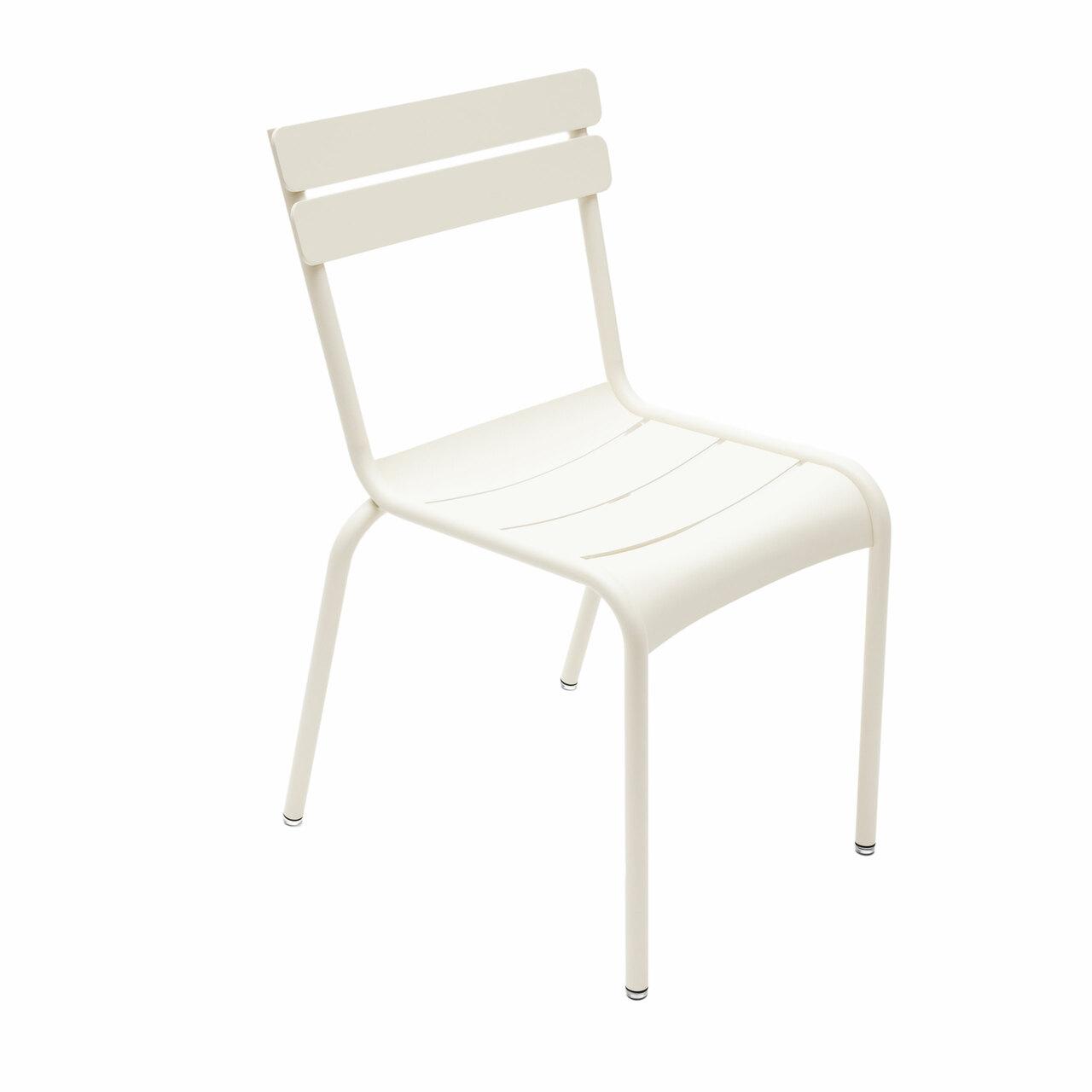 Fermob Luxembourg Stuhl  Perlweiss - RAL 1013,  Stuhl ohne Armlehnen