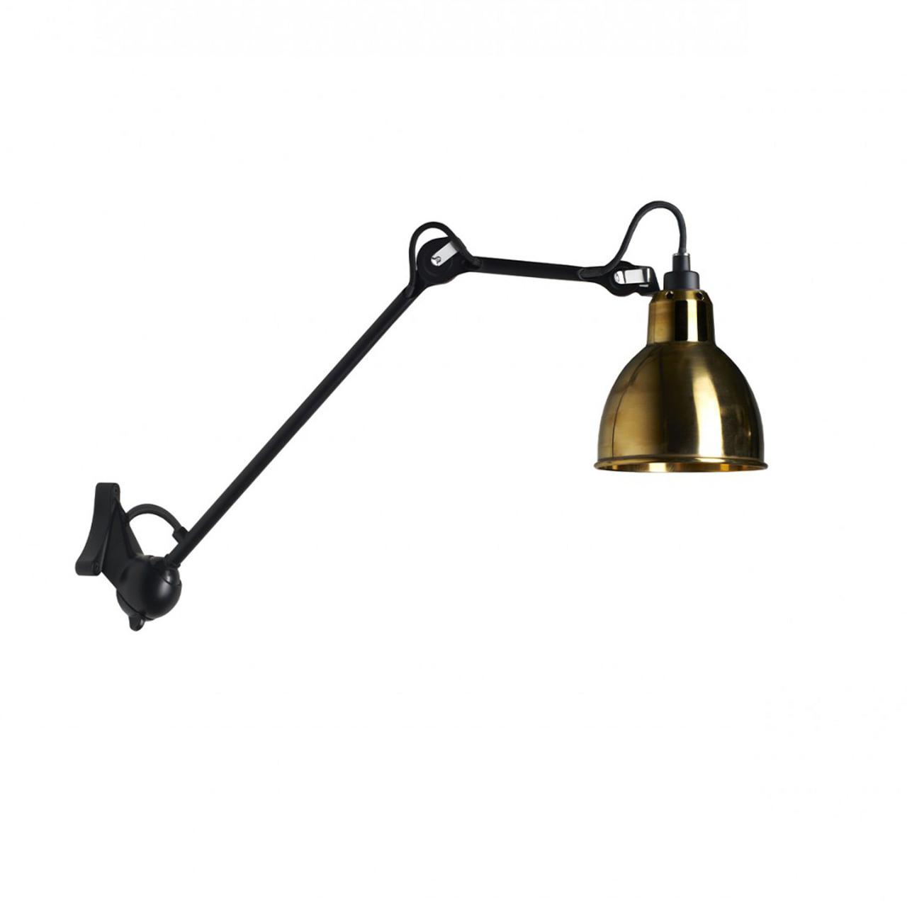 DCW Éditions Runde Wandleuchte 'Lampe Gras 222'  Schwarz-Gold,  Rund