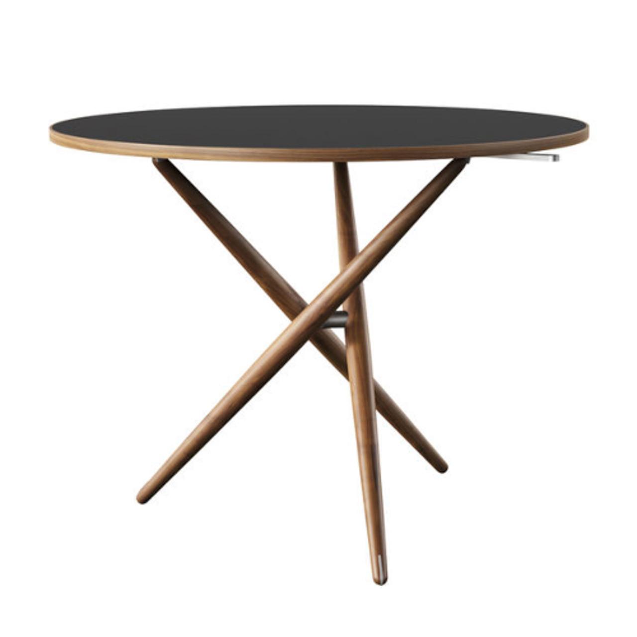 Horgenglarus 'Ess.Tee.Tisch'  Schwarznuss / Linoleum charcoal