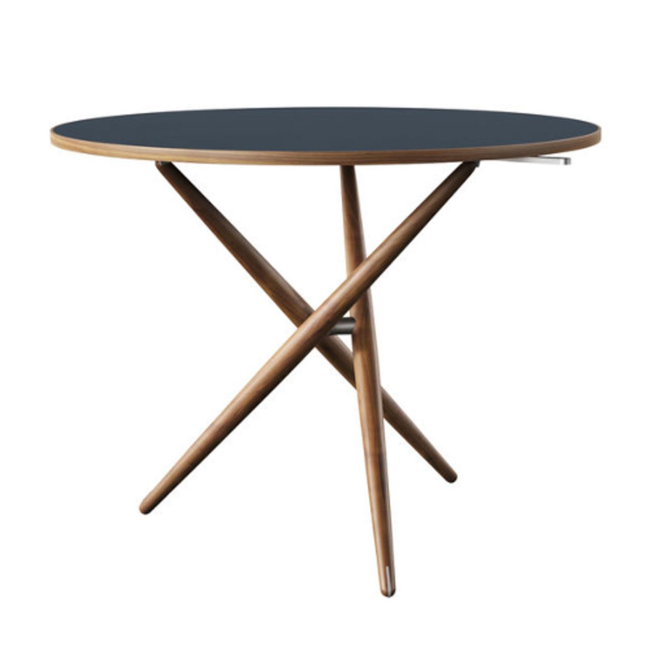 Horgenglarus 'Ess.Tee.Tisch'  Schwarznuss / Linoleum smokey blue 4179
