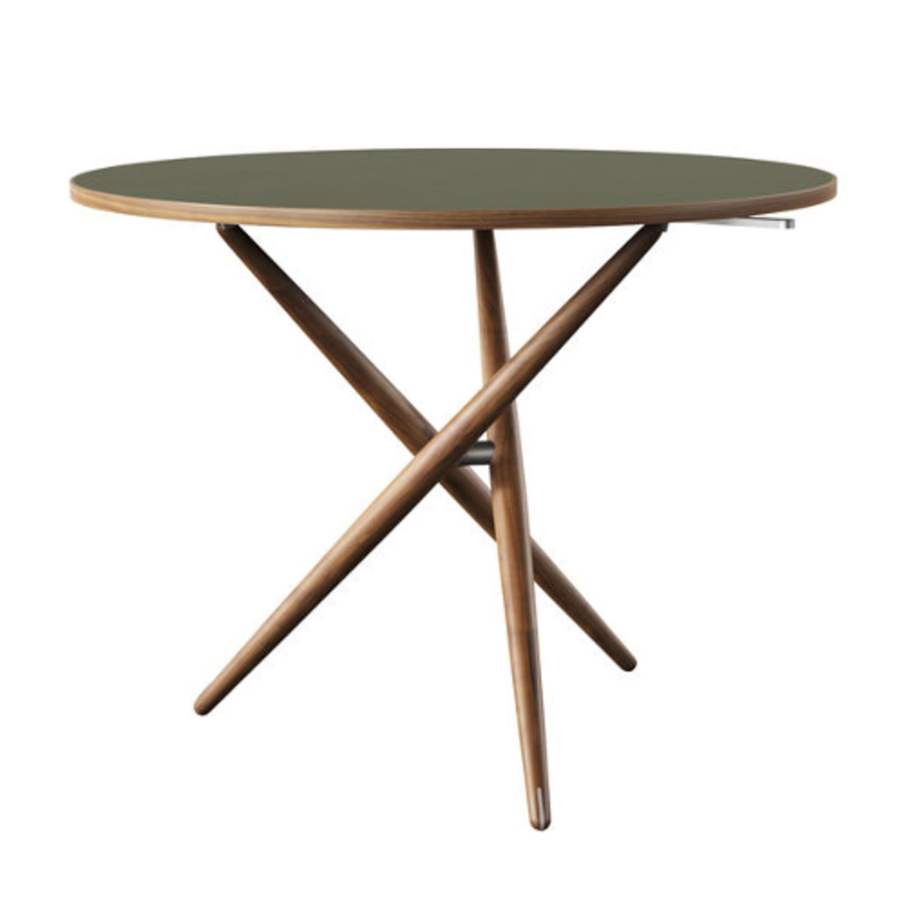 Horgenglarus 'Ess.Tee.Tisch'  Schwarznuss / Linoleum Olive