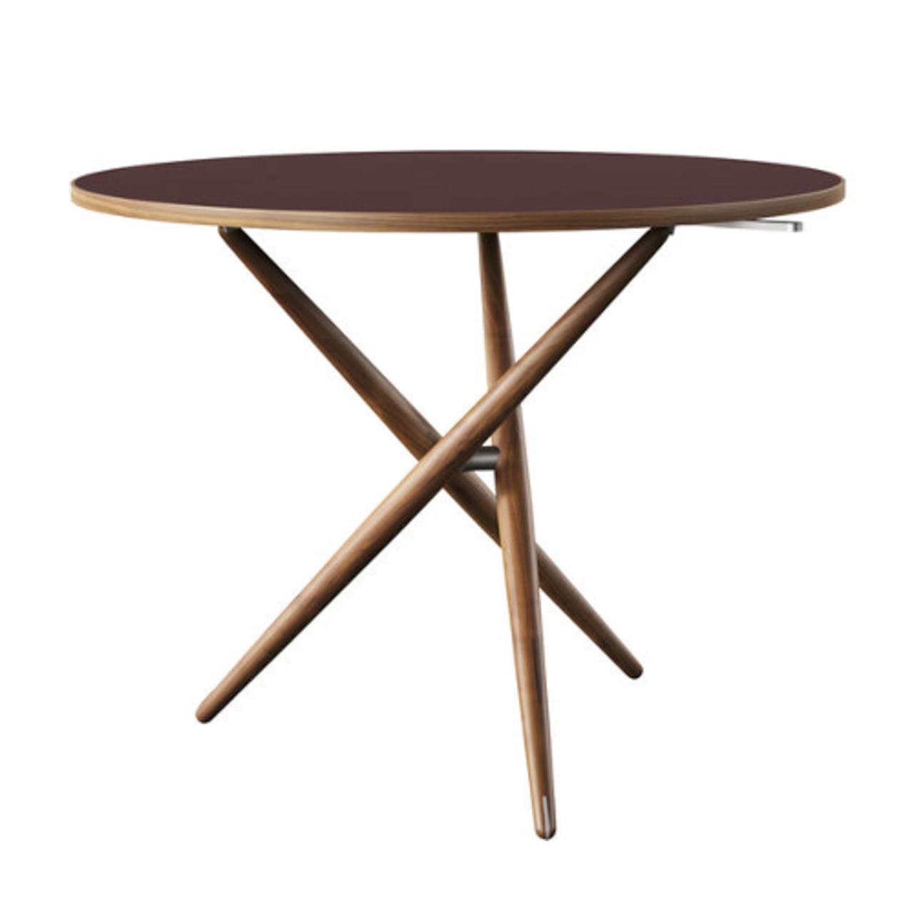 Horgenglarus 'Ess.Tee.Tisch'  Schwarznuss / Linoleum Burgundy