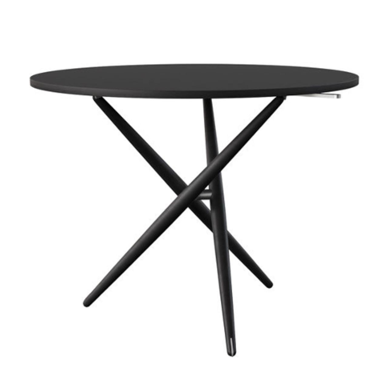 Horgenglarus 'Ess.Tee.Tisch'  Esche schwarz / Linoleum schwarz