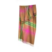 Baby alpaca throws pink green check xl baby alpaca throws shawls 200cm 78 1 1024x1024