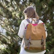 Toller Rucksack aus Canvas und Wildleder