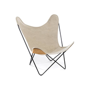 Hardoy butterfly chair in leinen