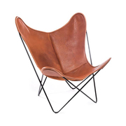 Hardoy butterfly chair mit husse in bio bueffelleder 6
