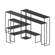 Easy bridge regal   7 modulare ablagen h 141 cm zeus kupfer schwarz von zeus 556230277